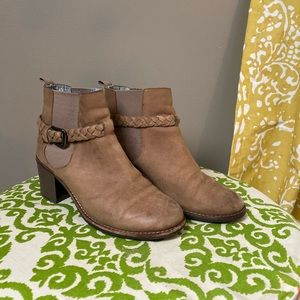 Light Brown Sperry Ankle Booties